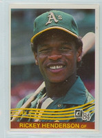 1984 Donruss Baseball 54 Rickey Henderson Oakland Athletics Near-Mint Plus