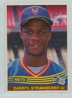 1984 Donruss Baseball 68 Darryl Strawberry New York Mets Near-Mint to Mint