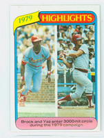 1980 Topps Baseball 1 1979 Highlights Near-Mint Plus
