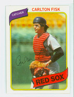 1980 Topps Baseball 40 Carlton Fisk Boston Red Sox Near-Mint Plus