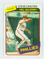 1980 Topps Baseball 210 Steve Carlton Philadelphia Phillies Near-Mint Plus