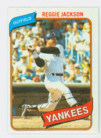 1980 Topps Baseball 600 Reggie Jackson New York Yankees Near-Mint