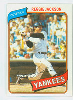 1980 Topps Baseball 600 Reggie Jackson New York Yankees Near-Mint Plus