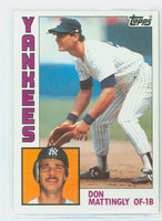 1984 Topps Baseball 8 Don Mattingly ROOKIE New York Yankees Near-Mint to Mint