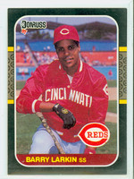 1987 Donruss Baseball Barry Larkin ROOKIE Cincinnati Reds Near-Mint to Mint