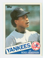 1985 Topps Baseball Traded 49 Rickey Henderson New York Yankees Near-Mint to Mint