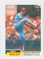 1984 Topps Baseball 1 Steve Carlton HL Near-Mint to Mint