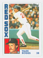 1984 Topps Baseball 30 Wade Boggs Boston Red Sox Near-Mint Plus