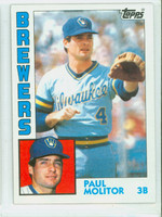 1984 Topps Baseball 60 Paul Molitor Milwaukee Brewers Near-Mint Plus