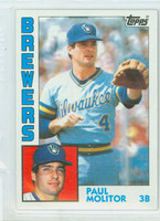 1984 Topps Baseball 60 Paul Molitor Milwaukee Brewers Near-Mint to Mint
