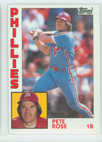1984 Topps Baseball 300 Pete Rose Philadelphia Phillies Near-Mint Plus