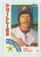 1984 Topps Baseball 388 Mike Schmidt AS Philadelphia Phillies Near-Mint to Mint