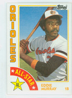 1984 Topps Baseball 397 Eddie Murray AS Baltimore Orioles Near-Mint Plus