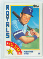 1984 Topps Baseball 399 George Brett AS Kansas City Royals Near-Mint to Mint