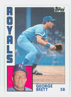 1984 Topps Baseball 500 George Brett Kansas City Royals Near-Mint Plus