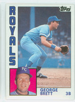 1984 Topps Baseball 500 George Brett Kansas City Royals Near-Mint to Mint