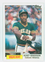1984 Topps Baseball 2 Rickey Henderson HL Near-Mint to Mint