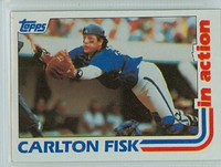 1982 Topps Baseball 111 Carlton Fisk IA IA Chicago White Sox Near-Mint to Mint