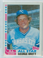 1982 Topps Baseball 549 George Brett AS Kansas City Royals Near-Mint to Mint