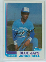 1982 Topps Baseball 254 George Bell Toronto Blue Jays Near-Mint to Mint