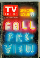 1970 TV Guide September 12 Fall Preview NY Metro edition Very Good - No Mailing Label  [Heavy scuffing on cover, contents fine]