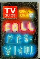 1970 TV Guide September 12 Fall Preview Cleveland edition Very Good - No Mailing Label  [Heavy wear and creasing on cover; contents fine]