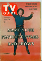 1960 TV Guide Feb 6 Richard Boone as Paladin in Have Gun Will Travel Tennessee edition Excellent - No Mailing Label  [Lt wear on binding, sl discoloration on cover; contents fine]