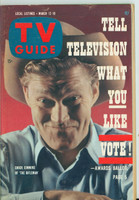 1960 TV Guide Mar 12 Chuck Connors of The Rifleman Pittsburgh edition Near-Mint - No Mailing Label  [Very light wear on cover, ow very clean]