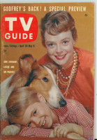 1960 TV Guide Apr 30 Lassie Pittsburgh edition Excellent to Mint - No Mailing Label  [Lt wear on cover, ow clean]