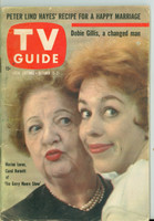 1960 TV Guide Oct 15 Carol Burnett and Marion Lorne Chicago edition Very Good to Excellent - No Mailing Label  [Wear and scuffing on cover and binding, contents fine]