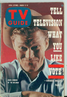 1960 TV Guide Mar 12 Chuck Connors of The Rifleman Northern California edition Excellent to Mint - No Mailing Label  [Lt wear on cover, ow clean]