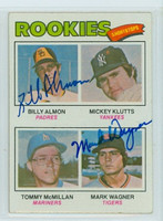 Almon-Wagner DUAL SIGNED 1977 Topps #490 Rookie Shortstops   [SKU:AlmoB5999_T77BBDRpl]