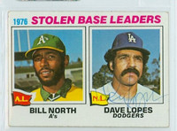 Dave Lopes AUTOGRAPH 1977 Topps #4 Dodgers SB Leaders 