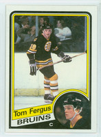 1984-85 Topps Hockey Tom Fergus Boston Bruins Near-Mint to Mint