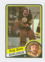1984-85 Topps Hockey Doug Keans ROOKIE Boston Bruins Near-Mint to Mint