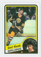 1984-85 Topps Hockey Gord Kluzak Single Print Boston Bruins Near-Mint to Mint