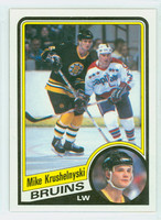 1984-85 Topps Hockey Mike Krushelnyski Single Print Boston Bruins Near-Mint to Mint