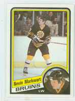 1984-85 Topps Hockey Nevin Markwart Boston Bruins Near-Mint to Mint