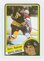 1984-85 Topps Hockey Barry Pederson Boston Bruins Near-Mint to Mint