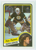 1984-85 Topps Hockey Pete Peeters Boston Bruins Near-Mint to Mint