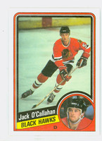 1984-85 Topps Hockey Jack O' Callahan Single Print Chicago Black Hawks Near-Mint to Mint