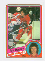 1984-85 Topps Hockey Ron Duguay Single Print Detroit Red Wings Near-Mint to Mint