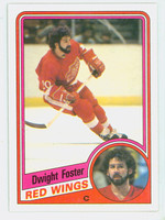 1984-85 Topps Hockey Dwight Foster Single Print Detroit Red Wings Near-Mint to Mint