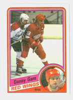 1984-85 Topps Hockey Danny Gare Single Print Detroit Red Wings Near-Mint to Mint