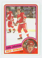 1984-85 Topps Hockey Eddie Johnstone Detroit Red Wings Near-Mint to Mint