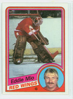 1984-85 Topps Hockey Eddie Mio Single Print Detroit Red Wings Near-Mint to Mint