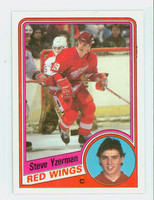 1984-85 Topps Hockey Steve Yzerman ROOKIE Detroit Red Wings Near-Mint