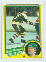 1984-85 Topps Hockey Brad Maxwell Single Print Minnesota North Stars Near-Mint to Mint