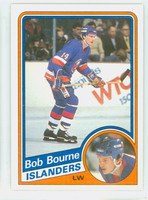1984-85 Topps Hockey Bob Bourne New York Islanders Near-Mint to Mint