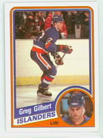 1984-85 Topps Hockey Greg Gilbert ROOKIE New York Islanders Near-Mint to Mint